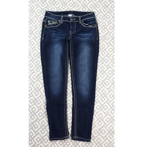 Maurices Dark Blue Skinny Jeggings Stretchy Jeans